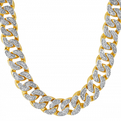 Thug Life Gold Chain Diamonds transparent PNG - StickPNG