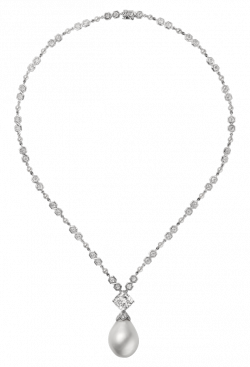 Diamond Necklace with Pearl PNG Clipart - Best WEB Clipart
