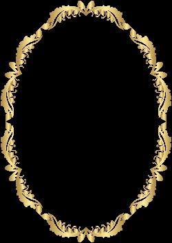 Golden Oval Border Transparent PNG Clip Art | Gallery Yopriceville ...