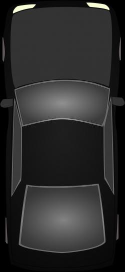 Clipart - Black car topview