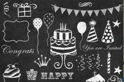 Chalkboard Birthday Clipart - CMpicks
