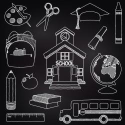 Chalkboard School Clipart Clip Art, Chalk Board Teacher Clipart Clip ...