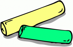 Piece Of Chalk Clipart - Letters