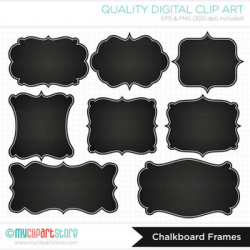 Frames - Chalkboard labels / Chalk Frames by MyClipArtStore | TpT
