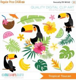 Tropical Toucan Clipart - Tropical Birds, Toucan, bird of paradise ...