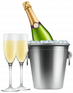 Champagne in Ice and Glasses PNG Clip Art Image | Gallery ...