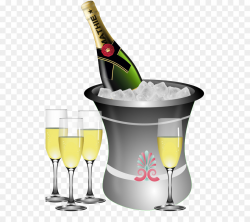 Champagne glass Clip art - Champagne Bottle Cliparts png download ...