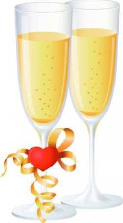 New Year Open Champagne with Glasses PNG Picture | Клипарты ...