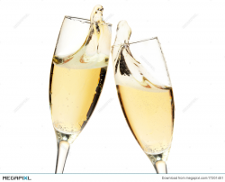 Cheers! Two Champagne Glasses Stock Photo 17201451 - Megapixl