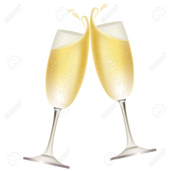 Champagne Cheers Clipart