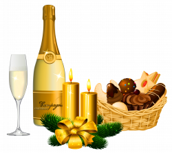 New Year Delicacies and Champagne PNG Picture   Gallery ...