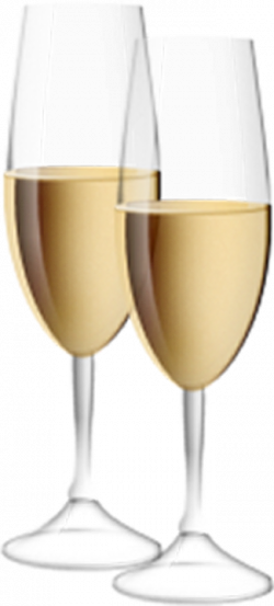 Transparent Champagne Flutes Clipart   Gallery Yopriceville - High ...