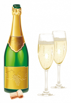 New Year Open Champagne with Glasses PNG Picture   Clip Art ...