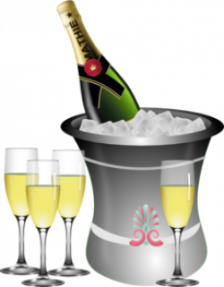 Champagne New Year S Eve Celebration Clip Art at Clker.com - vector ...