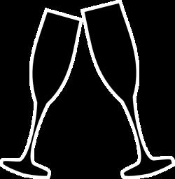 Champagne Glass Blk & Whte Clip Art at Clker.com - vector clip art ...