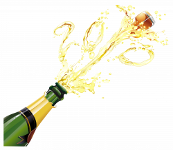 New Year Champagne PNG Clipart | Gallery Yopriceville - High ...