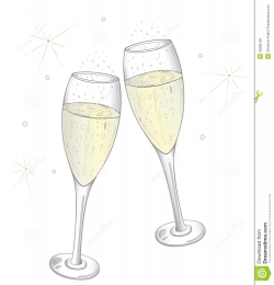 28+ Collection of Wedding Champagne Glasses Clipart | High quality ...