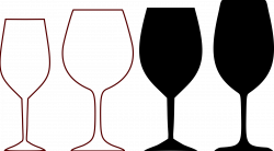 Clipart - wine glass shapes