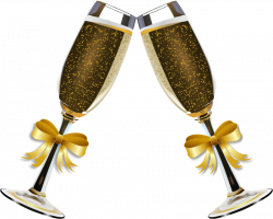 decorated wine glasses in gold | ... glasses. Each champagne glass ...