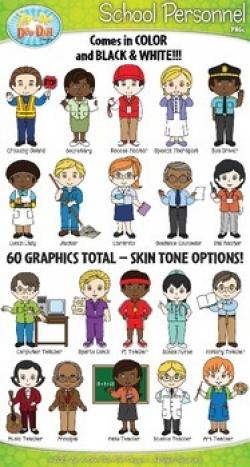 School Personnel Characters Clipart {Zip-A-Dee-Doo-Dah Designs} | TpT