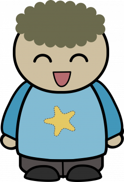 Clipart - mix and match character liam laughing front