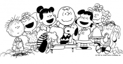 Peanuts Characters Clipart Black And White - Letters