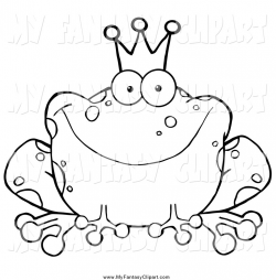 Black And White Fairy Tale Clipart