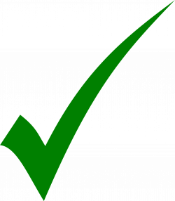 Clipart - Green tick - simple