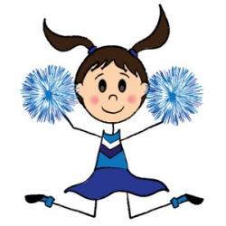 Cartoon Cheerleader Clipart