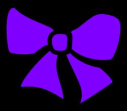 Purple Cheer Bow Clipart