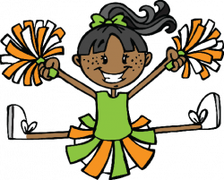 Cheerleader - Green and Orange | Clipart | The Arts | Image | PBS ...