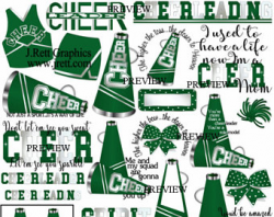 Green cheer clipart MORE COLORS green gold cheerleader clip