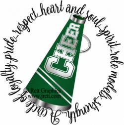 Green cheer clip art MORE COLORS green black cheerleader