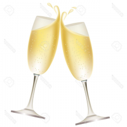 HD Champagne Cheers Clipart Drawing - Vector Art Library