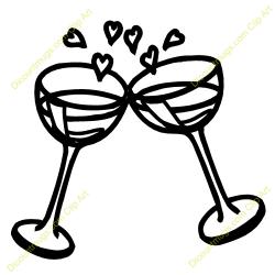 Wedding Champagne Glasses Clipart