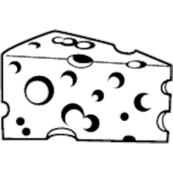 cheese clipart black and white | Clipart Station