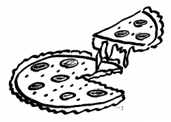 Image of Cheese Pizza Clipart #6263, Cheese Clipart Black And White ...