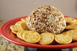 Quick and Delicious Cheese Ball Recipe ~ Macheesmo