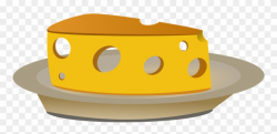 Plates Clipart Food - Cheese On A Plate Cartoon - Png ...