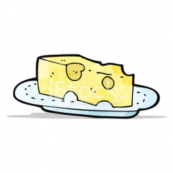 Cheese on Plate Cartoon Stock Vector - FreeImages.com