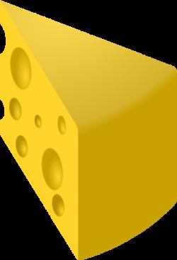 Yellow Swiss Cheese Slice Clip Art at Clker.com - vector clip art ...