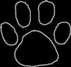 Tiger Paw Print Animal free black white clipart images clipartblack ...