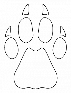 Cheetah paw print pattern. Use the printable outline for crafts ...