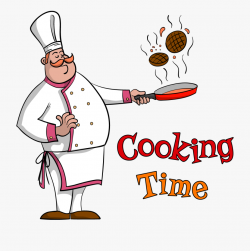 Cooking Food Frying Pan - Clipart Chef , Transparent Cartoon ...