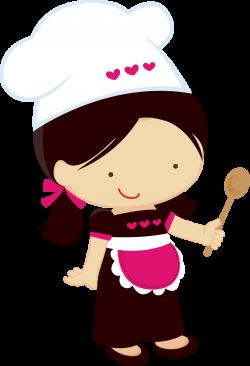 Clipart Pequeñas Chefs. | Pequeñas cocineras | Pinterest