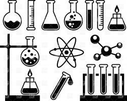 scientific experiment apparatus clip art black and white - Google ...