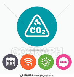 Vector Art - Co2 carbon dioxide formula sign icon. chemistry ...