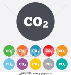 Drawing - Co2 carbon dioxide formula sign icon. chemistry. Clipart ...