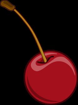 Cherry With Stem Clip Art at Clker.com - vector clip art online ...