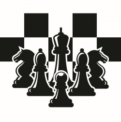 Chess Logo #2 Chessboard Pieces Setup Board Game Strategy Player ...